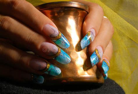 manicure stock image image  fingers glamur manicure