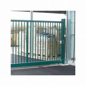 Portail Coulissant Sur Rail : portail coulissant vert ~ Edinachiropracticcenter.com Idées de Décoration