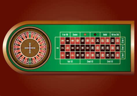 Casino Roulette Wheel On Green Casino Table Download
