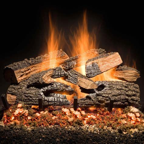 golden blount   split bonfire charred vented gas log set