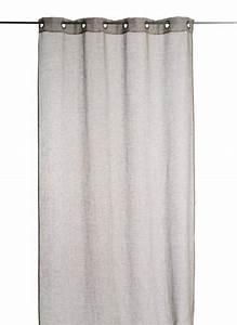 Rideau Lin Gris : voile de lin gris mon rideau deco ~ Teatrodelosmanantiales.com Idées de Décoration