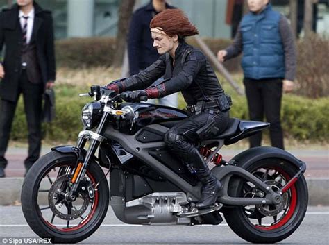 An Electric Harley-davidson Spotted On A Hollywood Set