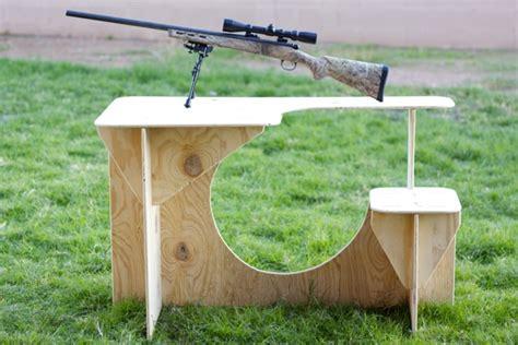 diy portable shooting bench plans   knock