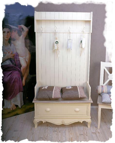 garderobenschrank flur garderobe shabby chic weiss vintage ebay