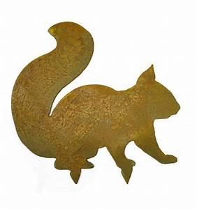 Eichhörnchen Aus Holz : edelrost eichh rnchen mit baumspie ~ Orissabook.com Haus und Dekorationen