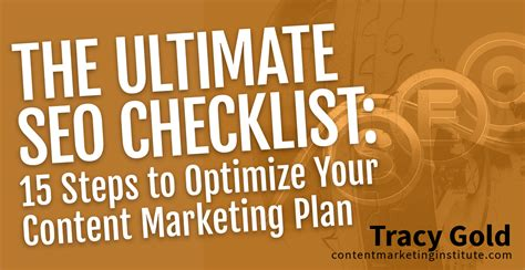 seo marketing plan the ultimate seo checklist 15 steps to optimize your