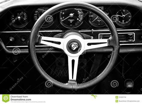 cab porsche  targa black  white editorial stock