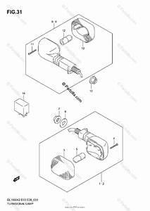 Suzuki Motorcycle 2003 Oem Parts Diagram For Turnsignal