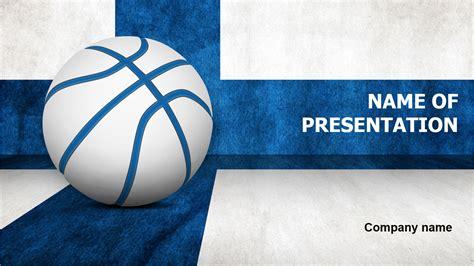 finland basketball ball powerpoint template  impressive