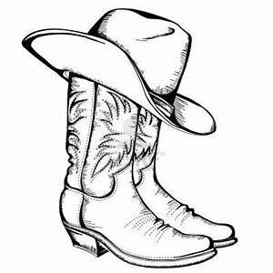 Cowboy Hat And Boots Coloring Page 21976, - Bestofcoloring.com