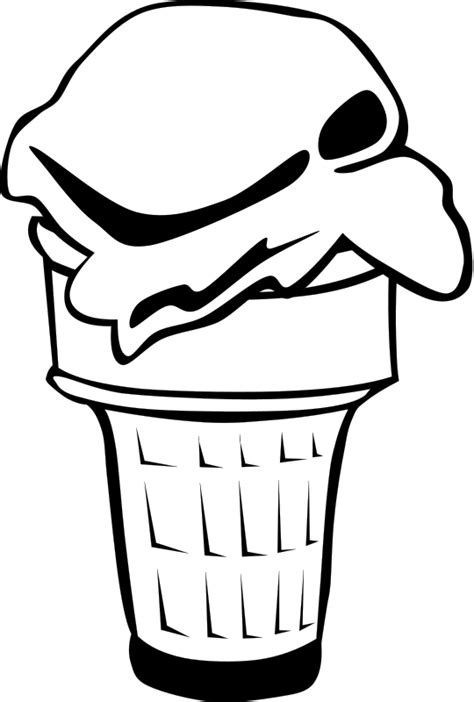 Ice Cream Cone Coloring Page - ClipArt Best