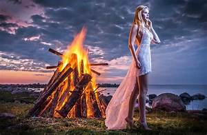 Women, Barefoot, Fantasy, Art, Fire, Clouds, Wallpapers, Hd, Desktop, And, Mobile, Backgrounds