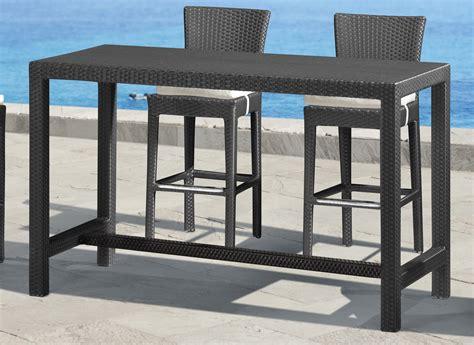 bar height rectangular patio table patio furniture