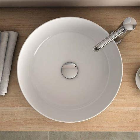 vasque 224 poser ronde blanche 38 5 cm c 233 ramique