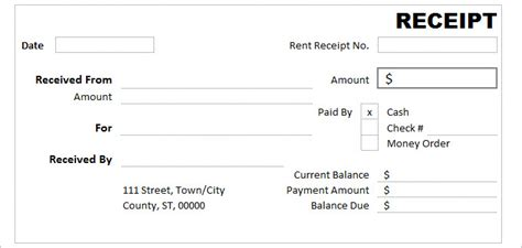 cash receipt template 19 free word excel documents