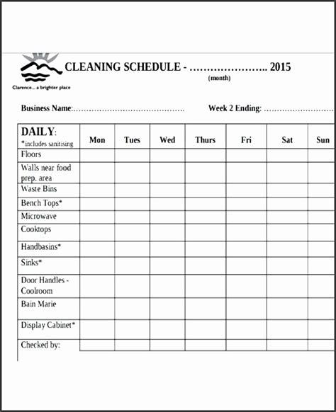 bathroom cleaning checklist template sampletemplatess