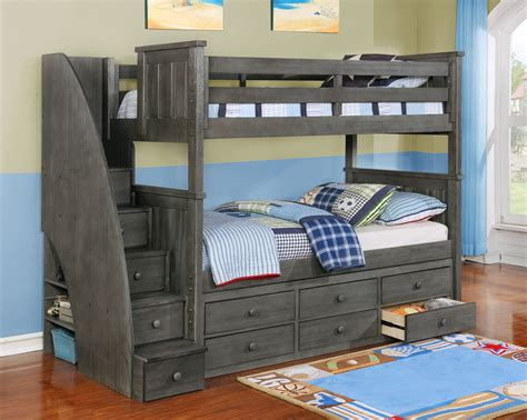 bunk beds with storage jackson bunk bed white espresso rustic 18781