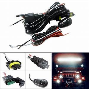H11 H8 Relay Harness Wire Kit   Led On  Off Switch For Fog