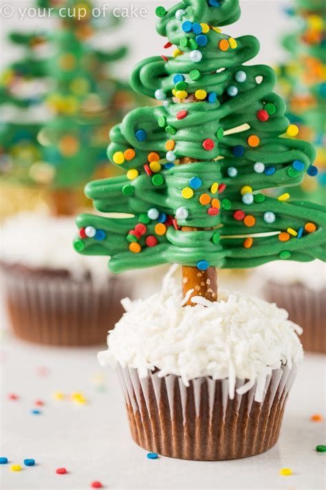 easy christmas tree cupcakes your cup of cake