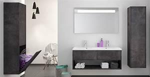 Meuble salle de bain bois design contemporain allibert for Meuble allibert salle de bain