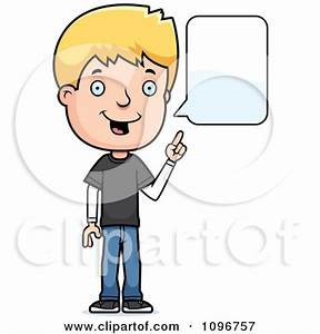 Boy Speaking Clipart