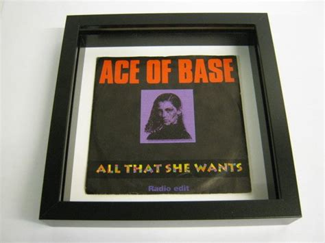 Ace Of Base All That She Wants Framed Record By
