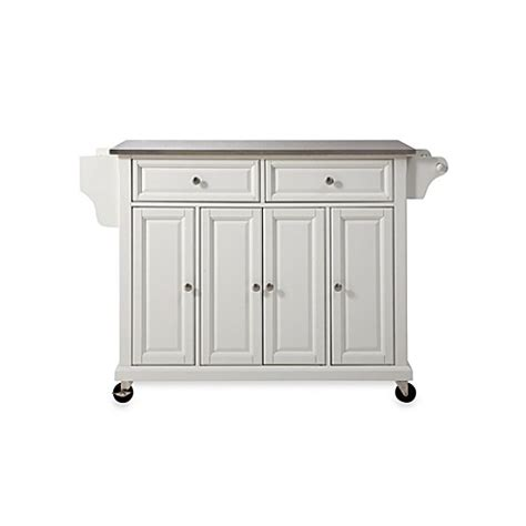 kitchen island cart stainless steel top crosley rolling kitchen cart island with stainless steel