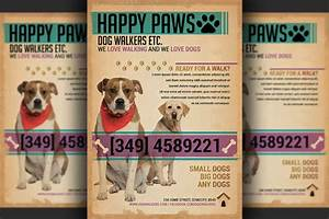 dog adoption flyer template - dog walkers flyer template flyer templates on creative
