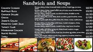 16 chalkboard menu examples using digital menu boards With sandwich shop menu template