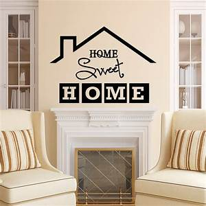 Home sweet home wall decal quote home sweet home sign vinyl for Wall decals for home