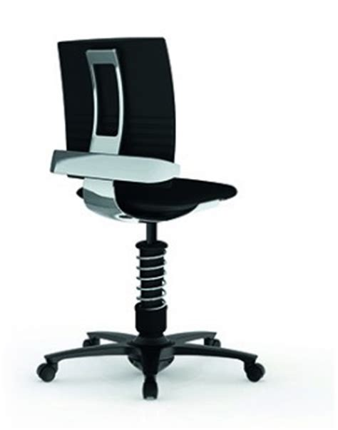 sitting in 3dee active office chair from aeris
