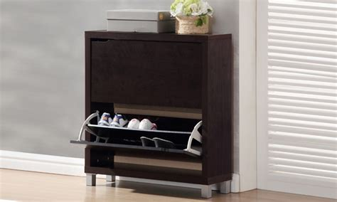 baxton studio shoe cabinets groupon goods