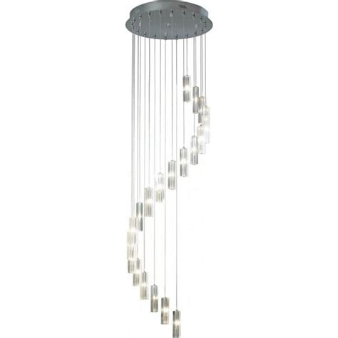 dar lighting galileo 20 light spiral ceiling pendant light