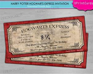 diy printable hogwarts express harry potter ticket With harry potter wedding invitations diy