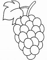 Grape Coloring Pages Grape2 Coloringway sketch template