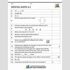 Mental Math 4th Grade