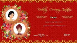 wedding ceremony sles hindu wedding invitation card background design wedding invitation ideas