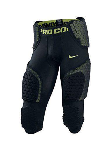 nike mens football padded pants blackneon green large