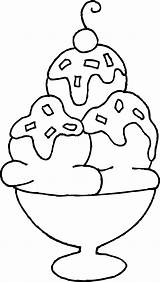 Ice Cream Coloring Sundae Clip Clipart Wendy Sweetclipart sketch template
