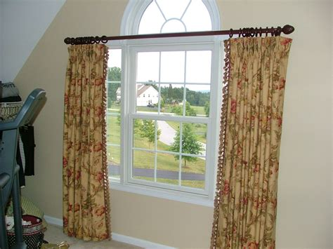 arched curtain rod wonderful arched window curtain rod cabinet hardware room