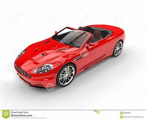 Red Convertible Sports Car - Top View Stock Image - Image ...