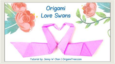 valentines day crafts origami swan love birds