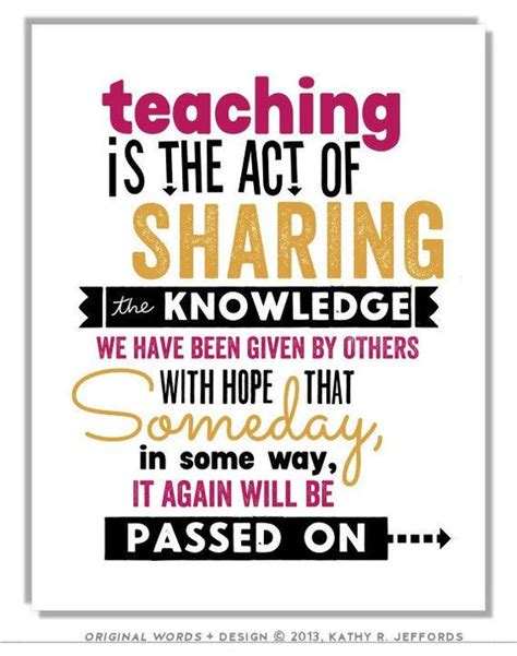 Teacher Gift Idea Print Teaching Is The Act Of Sharing Education Quote Art Classroom Wall Decor