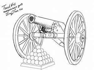 How to draw cannon step by step | ARCMEL.COM