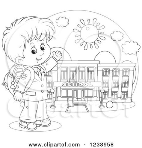 going to school clipart black and white clipart of a black and white school boy presenting a
