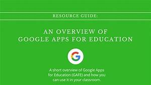 Resource Guide  Intro To Google Apps For Education