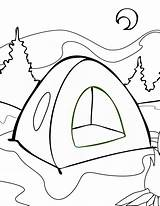 Camping Coloring Pages Drawing Tent Getdrawings sketch template