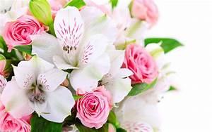 Bouquet Fleurs Blanches : bouquet de fleurs roses et blanches ~ Premium-room.com Idées de Décoration