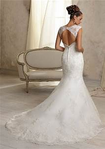 unique mermaid sweetheart cut out cap sleeve lace wedding With wedding dresses with back out