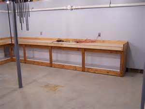 Wall Mounted Garage Workbench Plans